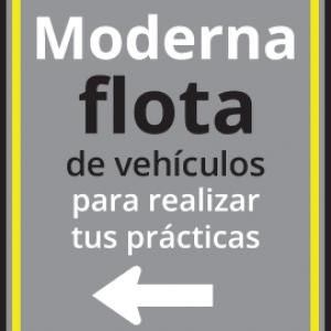cartel flota de vehiculos