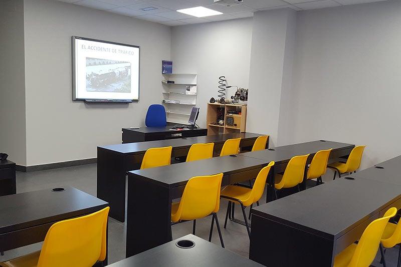 Instalaciones aulas autoescuela basurto