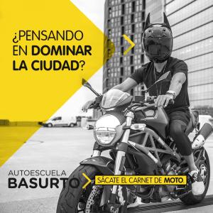 Carnet de moto en autoescuela Basurto