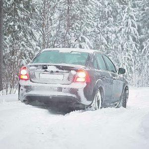 atasco en la nieve