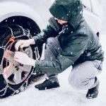 Cómo colocar las cadenas de nieve