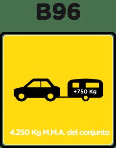 carnet de conducir b96 y remolque